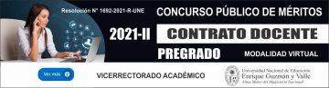 CONVOCATORIA CONTRATO DOCENTE 2021-II