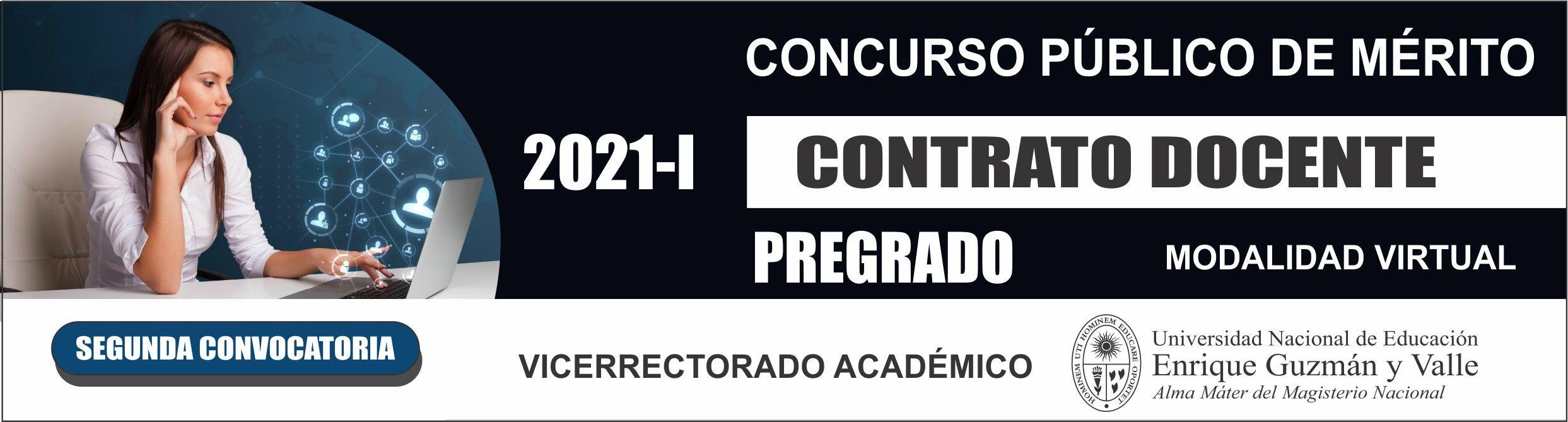 Contrato docente 2021-I 2da. Convocatoria