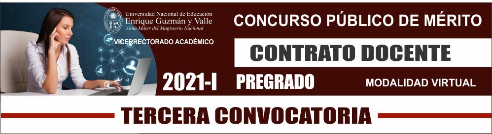 Contrato docente 2021-I / 3ra. Convocatoria