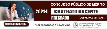 Concurso Público Contrato Docente 2021-I Tercera Convocatoria