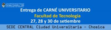 Entrega de CARNÉ UNIVERSITARIO